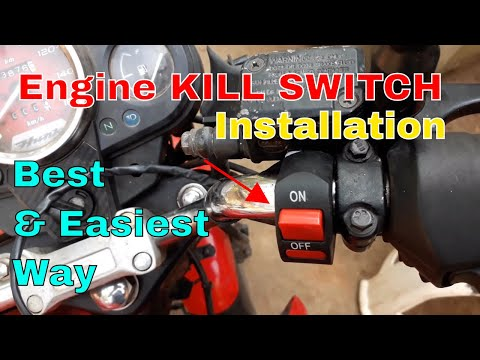 Kill Switch Installation for Bike and Scooters. - YouTube on