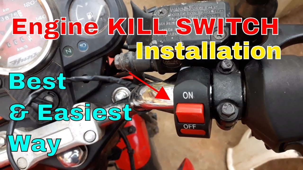 kill switch installation for bike and scooters  [ 1280 x 720 Pixel ]