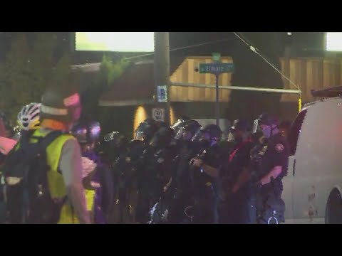 Protesters March To Police Union Building In North Portland