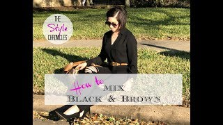 Mixing Black & Brown Outfit OOTD