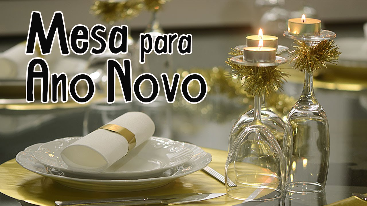 Decoraç u00e3o de mesa para Ano Novo YouTube