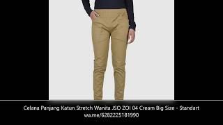 Celana Katun Stretch Wanita Panjang Cotton Chino Pants - Standar - Reguler Size - Big Size - Jumbo - ZOI Multi Color Original JSO Fashion 10 Warna
