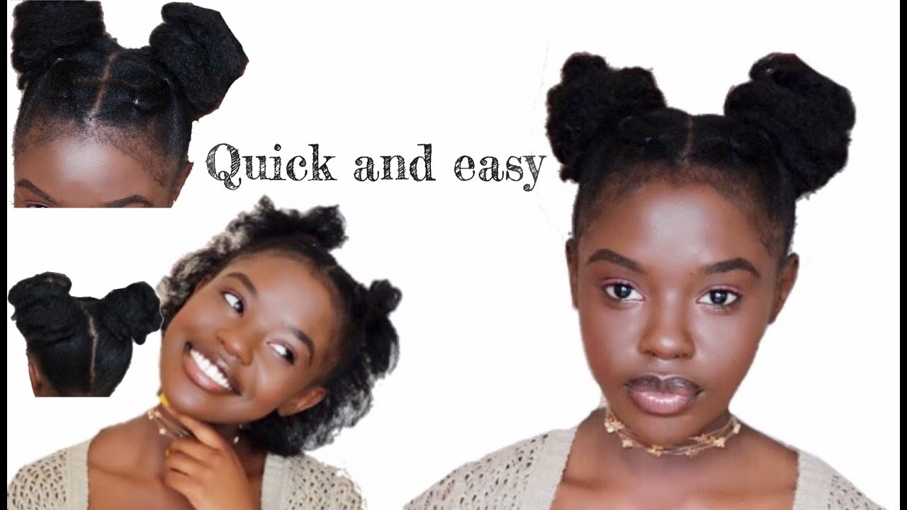 style your hair without gel how to style 4a 4b 4c hair no gel needed 3248