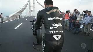 Imagens mostram um motociclista a 400 km/h em rodovia no interior de São Paulo
