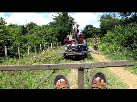 This is What Happens When Two Bamboo Trains Meet on the Bamboo Railway