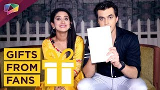 Mohsin Khan And Shivangi Joshi Aka Kartik And Naira Receive Gifts From Their Fans | Yeh Rishta