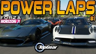 Forza Horizon 3 TOP GEAR POWER LAPS #1 Pagani Huayra BC, Aston Martin Vulcan & GTA Spano(The first episode of my version of Top Gear Power Laps in Forza Horizon 3! The first episode kicks off with three S2 cars from the new Smokin Tires car pack., 2016-10-09T18:00:02.000Z)