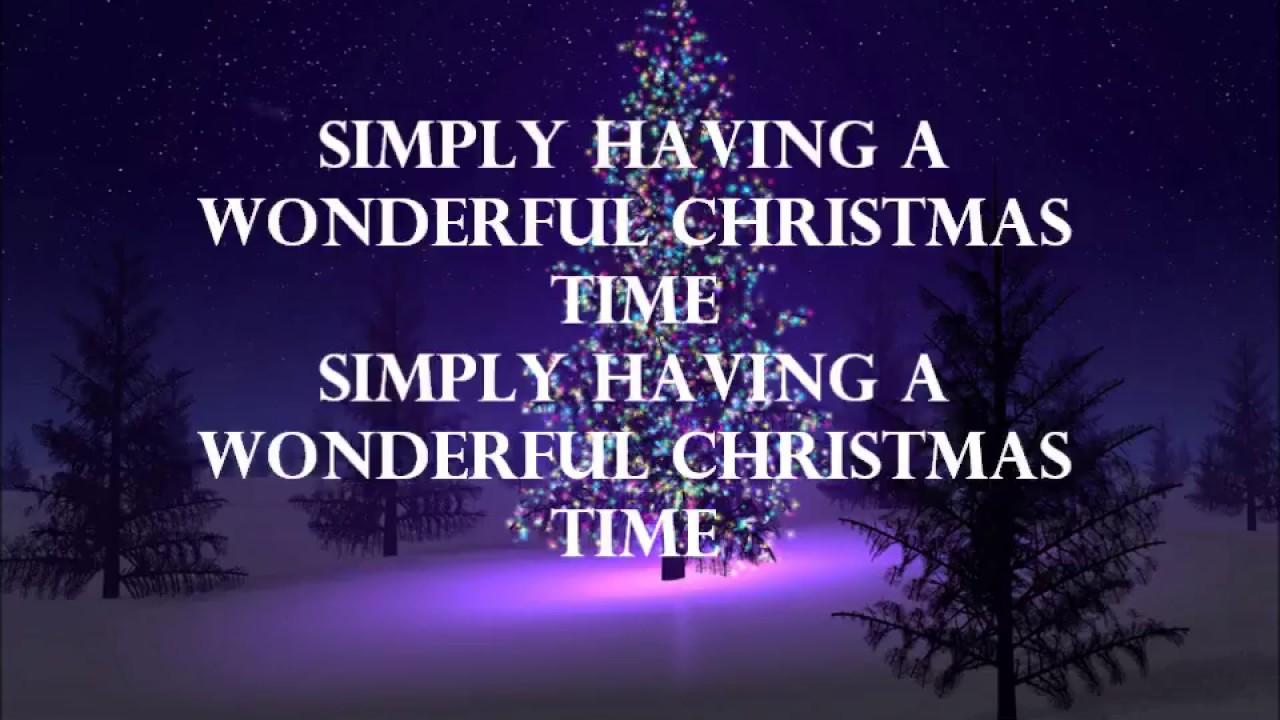 paul mccartney simply having a wonderful christmas time lyrics hd - Simply Having A Wonderful Christmas Time Lyrics