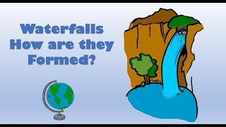 How a Waterfall is formed - labelled diagram and explanation