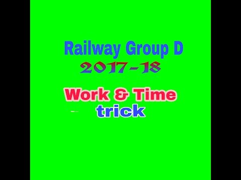 Railway GROUP D  math ( WORK and time )