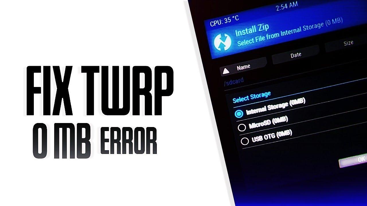 FIX Internal Storage 0MB Problem - Fix Unable To Mount System - Internal  Storage 0mb Twrp 🔥🔥🔥