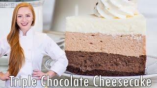 Triple Chocolate Cheesecake - with no-bake cheescake!