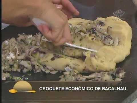 Croquete econômico de bacalhau