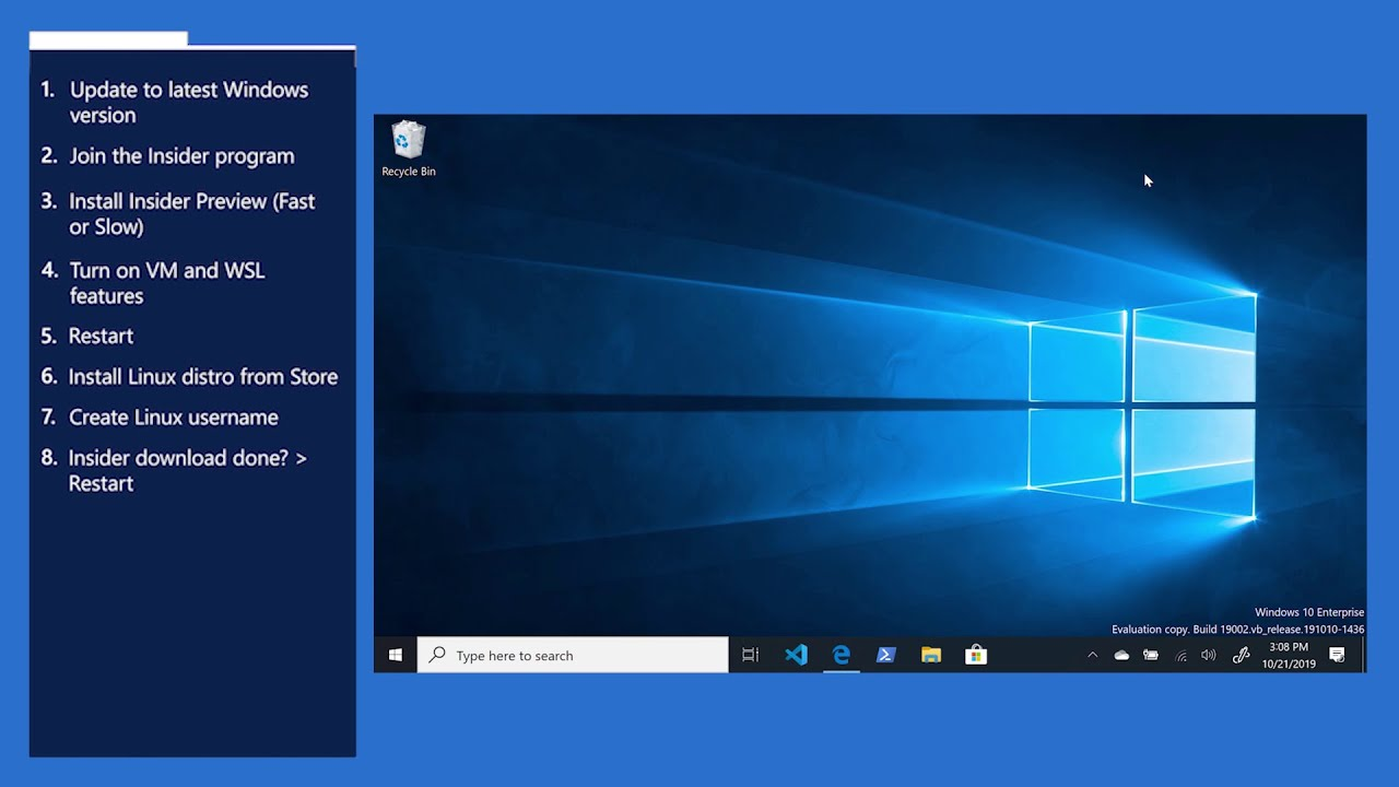 Learn how to install Windows Insiders to get the latest features for WSL 28