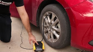 Auto Shut-Off 12v Car Tire Inflator by Dr.Auto