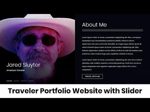 Traveler Porfolio Website With Slider Using Html,css And Jquery