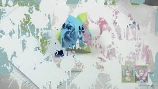 Un Cubo Que Se Combierte En Rosa  Origami