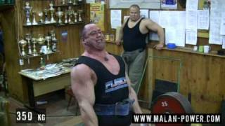 Malanichev deadlift training, 400 kg