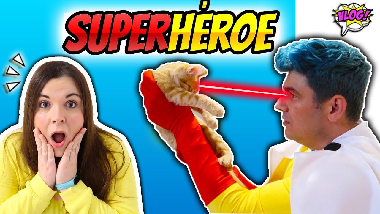 24 HORAS ESPIANDO A MI NOVIO 😱 DESCUBRO SU SECRETO !!! Se cree un Superhéroe (parte 3)