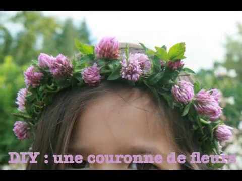 faire une couronne de fleurs - youtube
