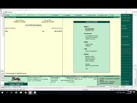 Bad Debt: Accounting entry in tally - Drushtant Infoweb Pvt