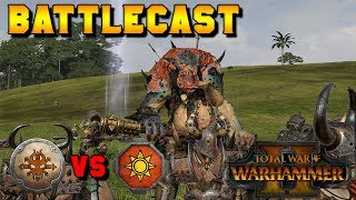 TROLL AIR GUITARS!! Norsca vs. Lizardmen Multiplayer Battle | Total War: Warhammer 2