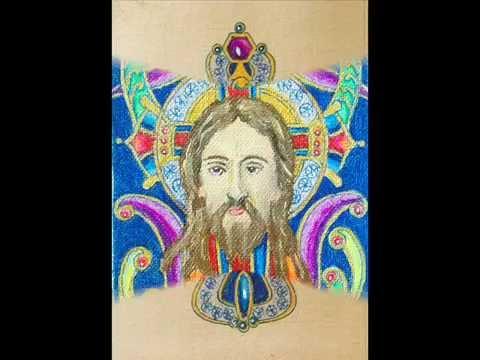 Gagik Armenian artist Edvard Khanoyan miniature ACEO cross icon Jesus