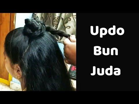 sleek-tight-low-bun-l-easy-5-minutes-juda-l-simple-twisted-bun-l-hairstyles-l-juda-l-koppu-l-khopa