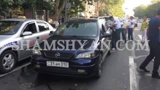 Խոշոր ու շղթայական ավտովթար Երևանում  Բախվել են Mitsubishi ն, Nissan ը, Opel ը և Mercedes ը