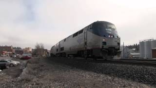 Very Rare: F40 Cabbage Engine On Amtrak California Zephyr Truckee, California