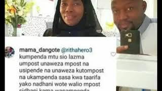 Mama Dangote awaita wanafiki wote waliomtakia Kheri ya kuzaliwa mtoto wa Hamisa Mobetto na Diamond