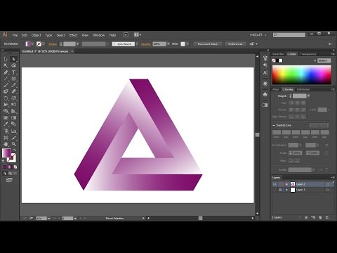 How to Draw the Impossible Triangle in Adobe Illustrator