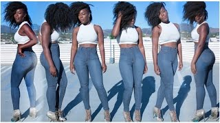 Date Night Denim | High Waist Skinnies + Crop Top