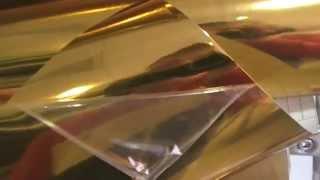 Зеркальная плёнка под хром-золото(Виниловая плёнка для оклейки практически любого типа поверхностей. Защитная ламинация. Неплохой коэффицие..., 2015-01-13T13:35:57.000Z)