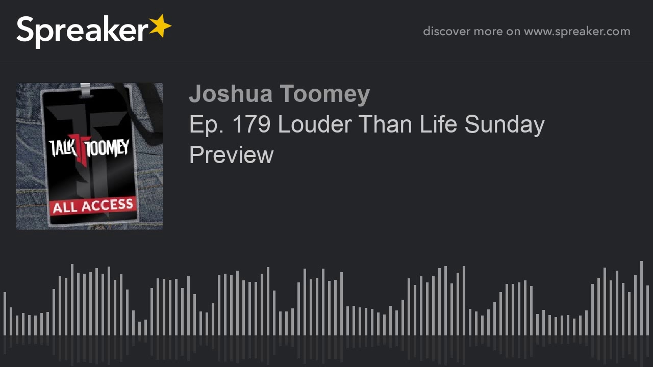 Ep  179 Louder Than Life Sunday Preview