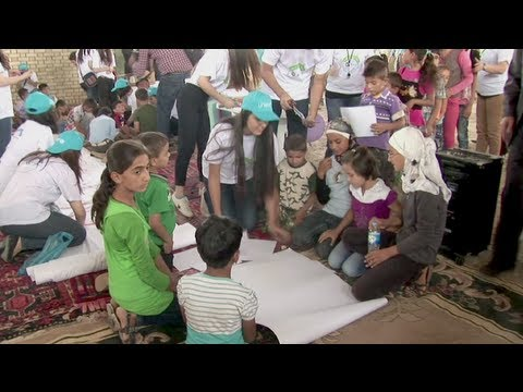 Students help students - at new Syrian refugee camp in northern Iraq