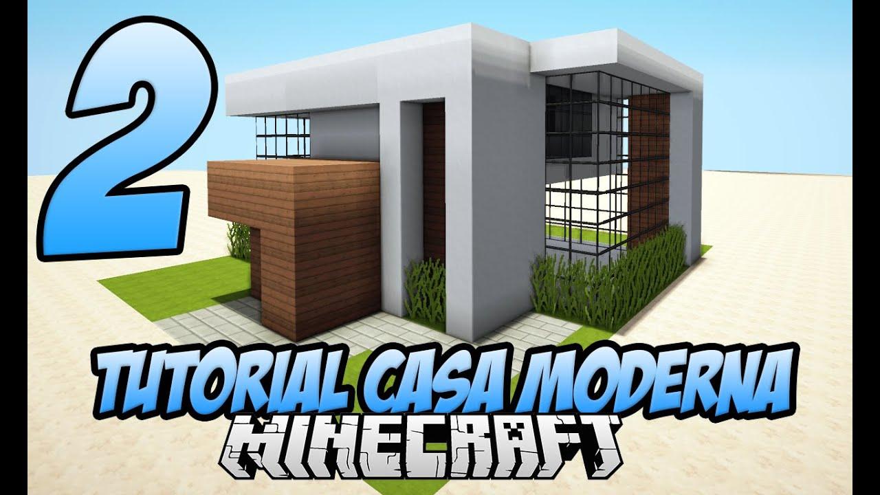 Tutoriais minecraft pequena casa moderna parte 2 for Casa moderna 3 parte 2