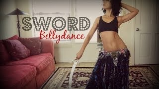 Learn sword belly dancing on freebellydanceclasses.com