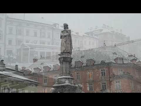 La magica nevicata del 1 febbraio a Bolzano - Alto Adige da fiaba