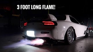 Built Rx-7 Shoots Flames! *Warning Loud*