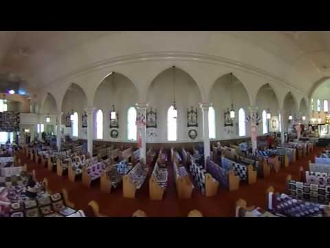 Quilt Exposition at Saulnierville Church, Nova Scotia    360 Theta Video