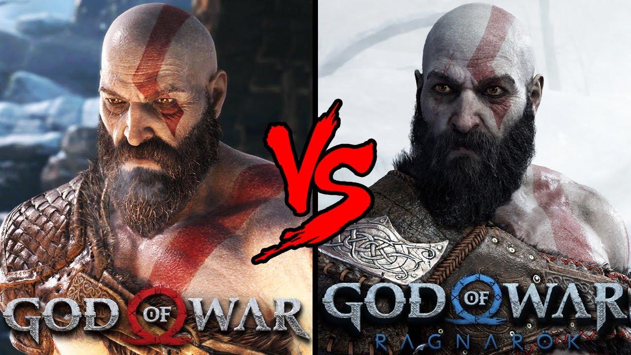 COMPARANDO OS GRÁFICOS DE GOD OF WAR 2018 VS GOD OF WAR RAGNAROK!