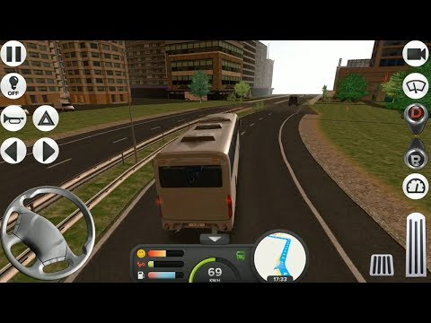 Coach Bus Simulator 2017 - Android Gameplay HD - Amsterdam to Paris