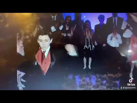 "Jersey Shore native Jake Dylan performs ""Let's Get Loud"" at his 2006 Bar Mitzvah at the PNC Bank Arts Center in Holmdel. The long-lost footage recently resurfaced -- and it still checks out on TikTok."