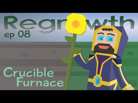 Crucible Furnace - Ep. 08 - Minecraft FTB Regrowth Modpack [1.7.10]