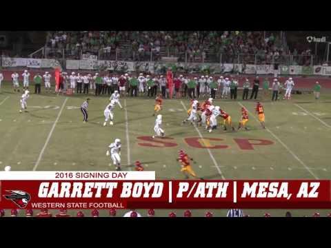 Western State Football  Garrett Boyd Highlights
