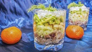 """Салат с сельдью """" А-ля Табаков"""""""