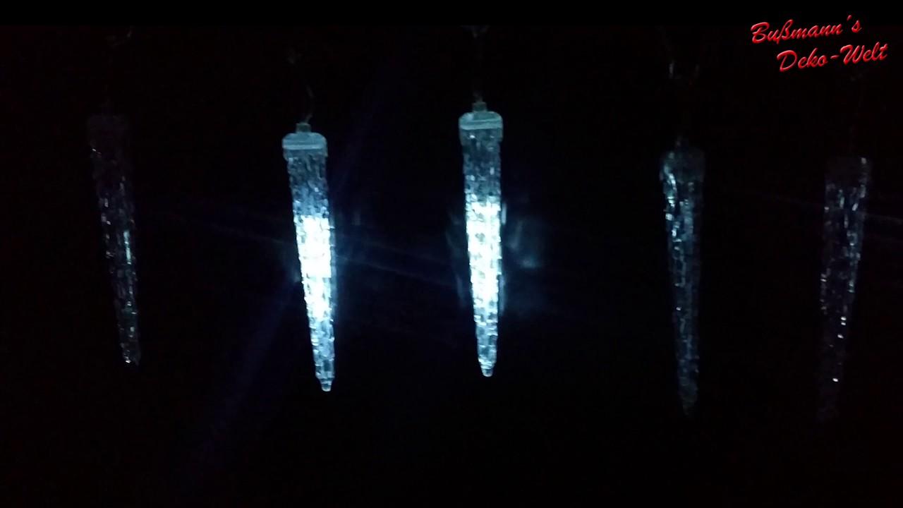 led eiszapfen lichterkette mit schnee effekt bussmanns youtube. Black Bedroom Furniture Sets. Home Design Ideas