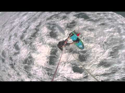 Kiteboard Wave Foiling on Maui in really light wind conditions