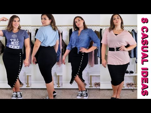 8 Casual Pencil Skirt Outfits | Bailey B.